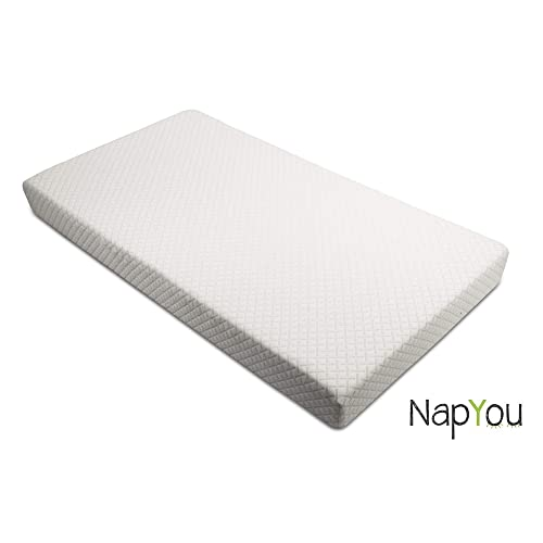 Official  Exclusive NapYou Crib Mattress for Baby or Toddler Bed Mattress with Organic Cotton and Waterproof Cover