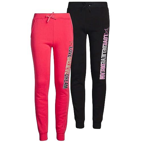 Real Love Girls Fleece Active Jogger Pants 2 Pack