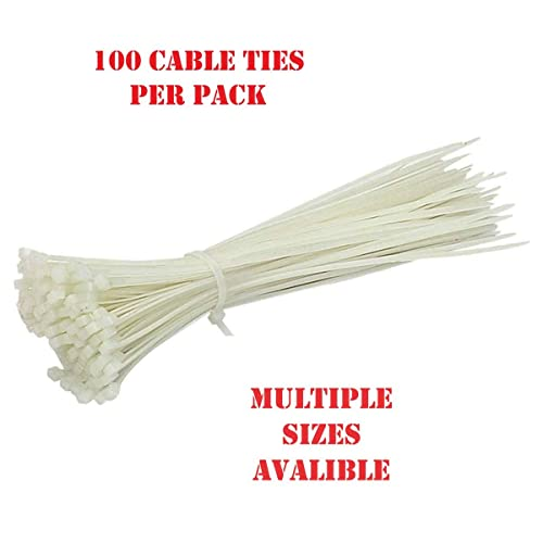 Cable Ties 200mm x 3.6mm Black Cable Plastic Tie Wraps Zip Strong PACK OF 100