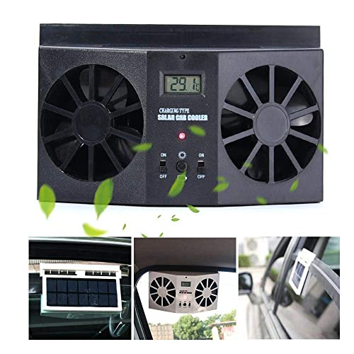 12V Solar Powered Exhaust Fan Air Vent Cool Fan Auto Cooler Ventilation System