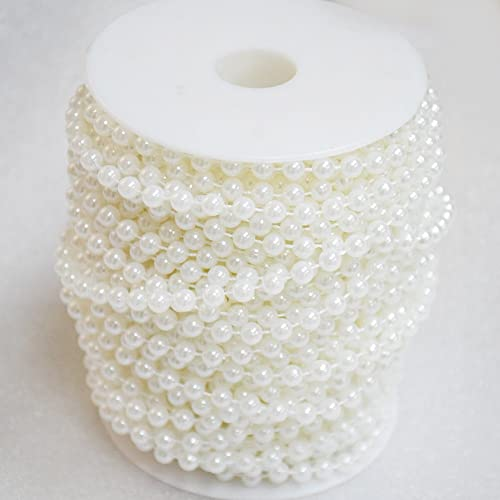 Wedding Decorations 6mm Ivory KUPOO 82.5 ft DIY Jewery Accessory Pearls Beads by The Roll