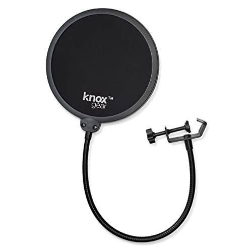 2 XLR Cables and Pop Filter Knox Studio Stand Microphone 7 Items Focusrite Scarlett 2i2 3rd Gen 2x2 USB Audio Interface with Headphones