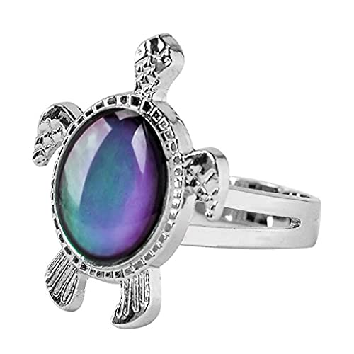 Acchen Mood Rings King of Eagle Color Change Emotional Feeling Endless Rainbow with Box