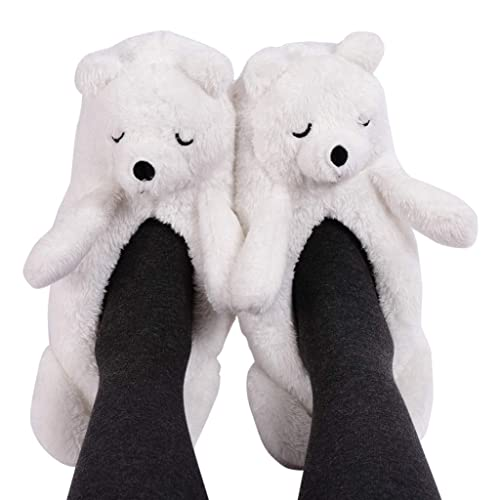 Panda Bros Womens Cozy/&Warm Animal Slipper Socks with Grippers-House Socks