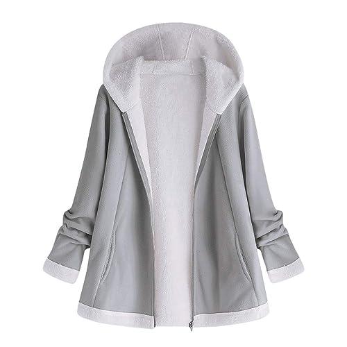 2x//3x Ladies Cream Sherpa Hoodie W//pockets