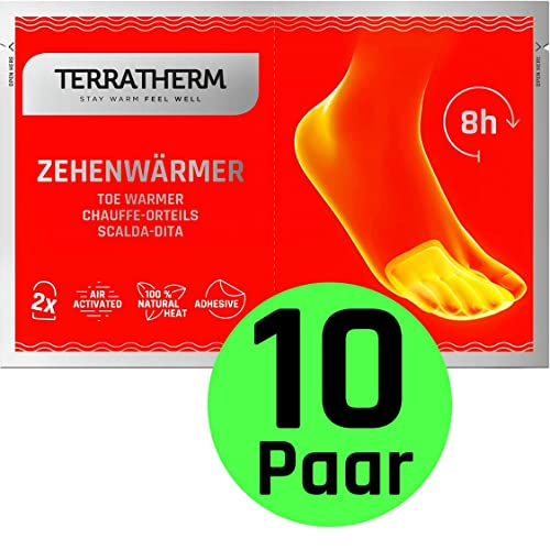 8-10 Hours of Soothing Heat 40 Pairs Premium Foot Warmers 100/% Natural Oxidation Adhesive Toe Warmers Pad Environmentally Safe Odorless Air-Activated