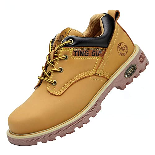 Steel Toe Mens Womens Safety Boots Work Waterproof Shoes Leather Industrial /& Construction Indestructible Protect Working Ankle Footwear
