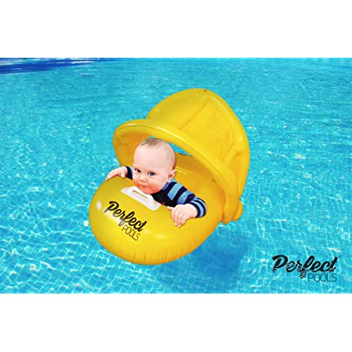 Free Swimming Baby Inflatable Baby Swimming Float-Helps Baby Learn to Kick and Swim With a Inflate Follower for the Age of 3-36 Months Green, S