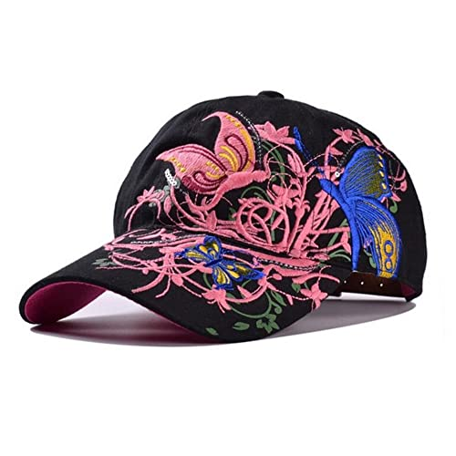 HugeStore Fashion Floral Baseball Hat Cap Snapback Trucker Hat Cap Sun Hat Cap for Women Ladies