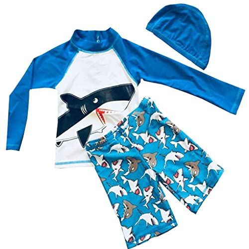 SANSI Kids Boys Swimsuit UPF 30 UV Sun Protective One-Piece Rash Guard