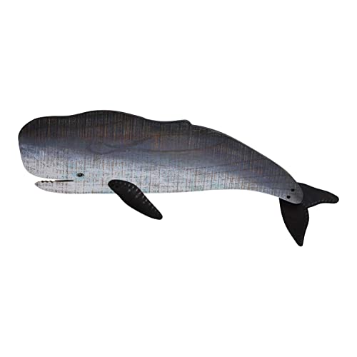 Buy Mti Sperm Whale Wood Wall Plaque Decor 27 5 Inches Online In Kuwait B07hr17q53