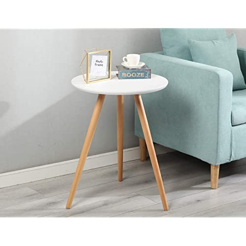 Buy Nesting Coffee Table Wood Sofa Side Table Small Round Tea Tables For Small Spaces Small Round Coffee Table White Side Tables Living Room Balcony Table Small Bedside Table Online In Kuwait