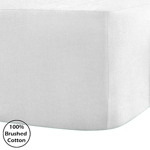 "10"" THERMAL SOFT 100/% BRUSHED COTTON FLANNELETTE EXTRA DEEP FITTED SHEET 25CM"