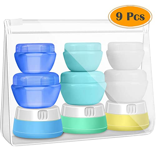 bf1b6a79cefd Buy Selizo Travel Bottles Containers Silicone and Plastic Cream Jars ...