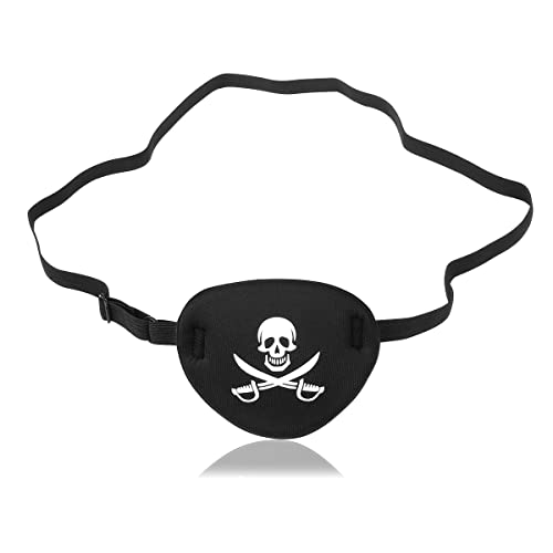 pirates pirate eye patch silk finish fancy dress MD031