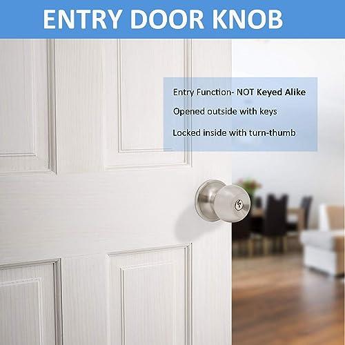 Entry Entrance Keyed Deadbolt Combo Satin Nickel Door Locks lever Brushed  838