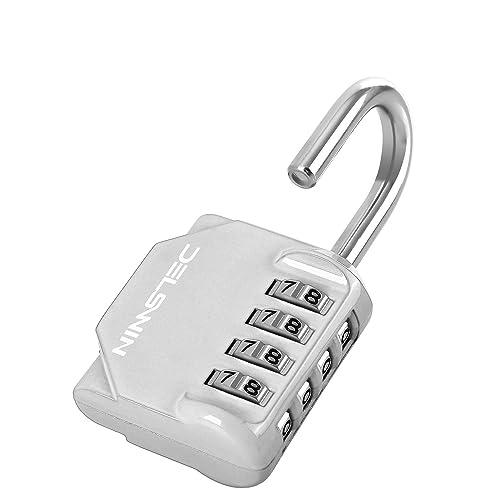 4 Digit Lock for School Gym Locker ZHEGE 2 Pack Combination Padlock Blackr /& Silver