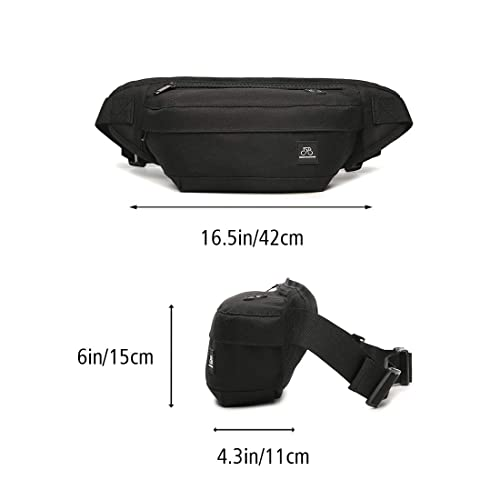 Compatible with iPhone//iPod Walking and Climbing MOSISO Travel Money Belt Black RFID Block Unisex Anti-Theft Passport Wallet Fanny Waist Pack Bag with Hidden Rear Pocket for Daily Running
