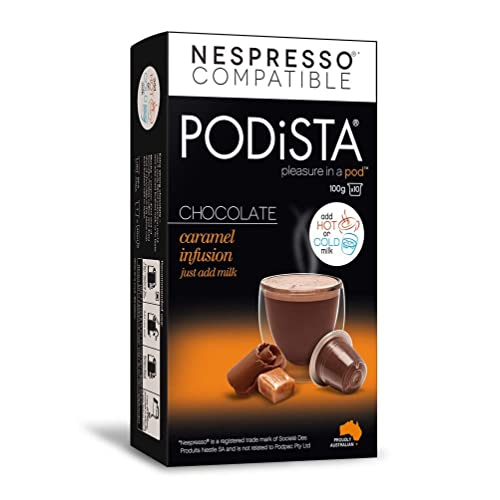 Buy Hot Chocolate Nespresso Compatible Capsules Hot Cocoa Pods Caramel Infusion 10 Pod Package Online In Kuwait B00tzivara