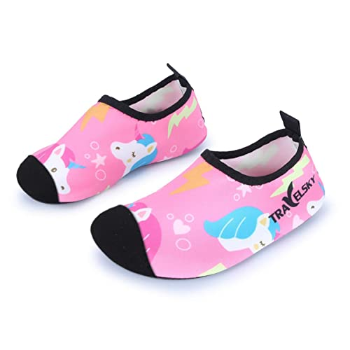 JOINFREE Kids Water Shoes Girls Slippers Boys Swim Socks Children Beach Shoes Pool Shoes Unicorn Slippers Summer Shoes Quick Dry Soft Light 18-37 EU