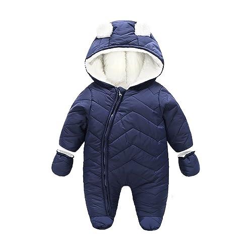 Lemohome Baby Boys Girls Winter Cotton Snowsuit Romper Warm Windbreaker