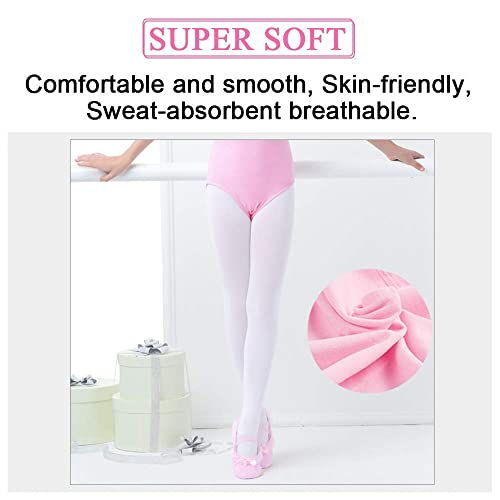 2 Pairs Silky Childs Girls Convertible Transition Foot Ballet Dance Tights 4-13