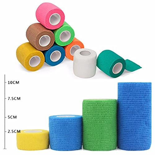Strong Elastic Self Adherent Cohesive Tape Bandages Rolls Mcree Pack of 8 Non-Woven Self Adhesive Wrap Bandages