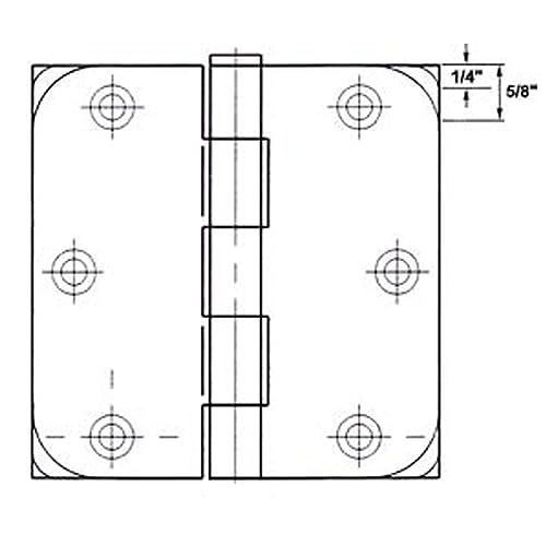 "4014-ORB-1 GlideRite 4/"" Oil Rubbed Bronze Door Hinges 1//4/"" Radius Hinge"