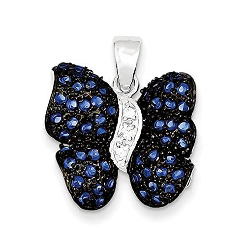 925 Sterling Silver Butterfly Pendant Charm Necklace Animal Fine Jewelry Gifts For Women For Her