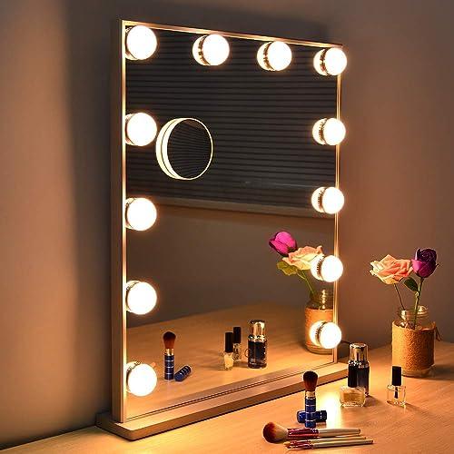 Wonstart Hollywood Beleuchteter Make Up Spiegel Mit Spiegel
