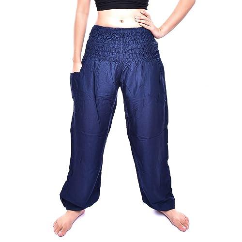 Perfect for Yoga Boho Summer Hippy Elephant Print Palazzo Trouser for Girls Beach Maternity Lounge Bohotusk Womens Bohemian Harem Pants