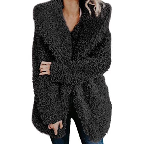kolila Womens Hooded Warm Winter Coats with Faux Fur Lined Outwear Jacket Thicken Fleece Lined Parkas Long Coats Plus Size