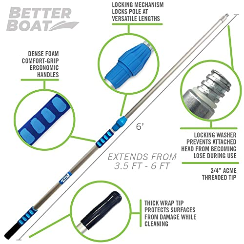 Buy Better Boat Telescoping Pole Extendable Pole Deck Brush