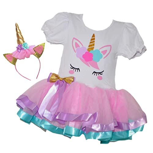 GoForDance Birthday Baby-Girls or Toddlers Puff Short Sleeve T-Shirt Printed Crown Princess