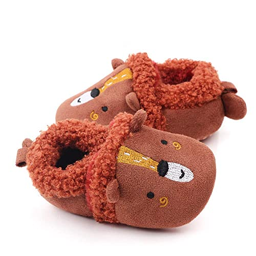 Prettyia Warm Cosy Boys Girls Infants Baby Kids Slippers Booties Xmas Gift