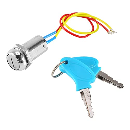 1PC Ignition Barrel 2 Key Latch scooter Launch Switch 4 Pin Block Connector