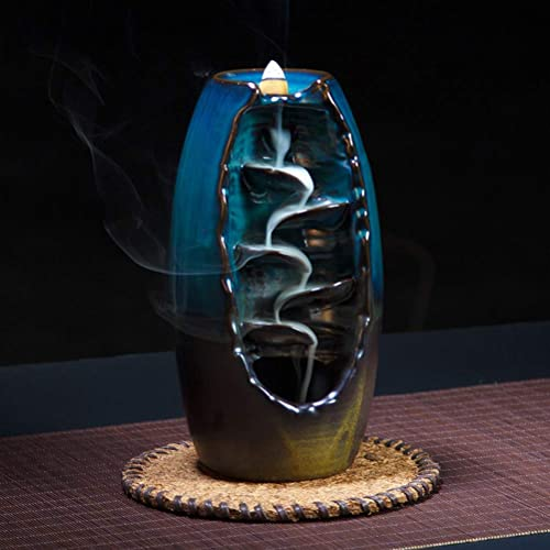 Brown Mayco Bell Backflow Incense Burner Ceramic Aromatherapy Furnace Smell Aromatic Home Office Incense Road Crafts Tower Incense Holder