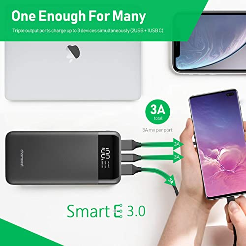 More 20800mAh Samsung Huawei Compatible with iPhone Charmast High Speed Charging USB C Cell Phone Portable Charger External Backup Power Battery Packs