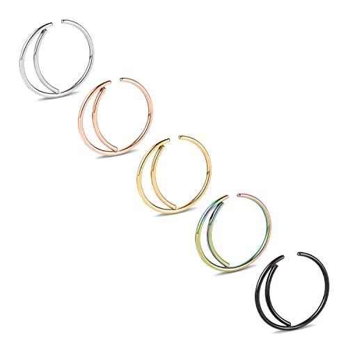 Kangyijia 20g Moon Nose Ring Hoop 316l Surgical Steel Crescent
