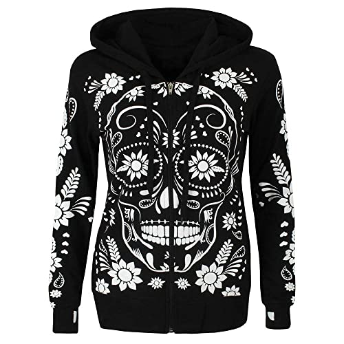 Skull Sauce Floral Kids Fashion Popular Hooded Hoodies With Pocket