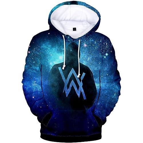 46f161a67f6c Bettydom Unisex Hoodies Alan Walker 3D Printed Sweatshirt Long Sleeve  Pullover