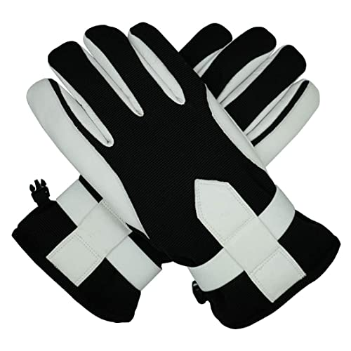 EGOGO Men Warm PU Leather Gloves with Thick Cashmere Fleece Lining for Winter and Fall Motorcycle Driving E607-1 Black