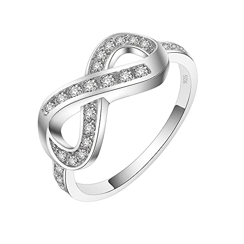 CloseoutWarehouse Multi-Shape Clear Cubic Zirconia Unique Ring Sterling Silver