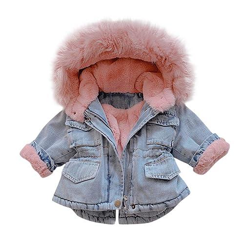 Girls Coat/&Jacket,Toddler Baby Boys Girls Fleece Windproof Winter Coat Thicken Warm Hoodie Outwear Baby Clothes