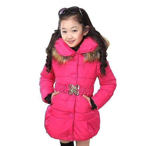 Phorecys Boys Winter Hooded Cotton Coat Jacket Parka Outwear