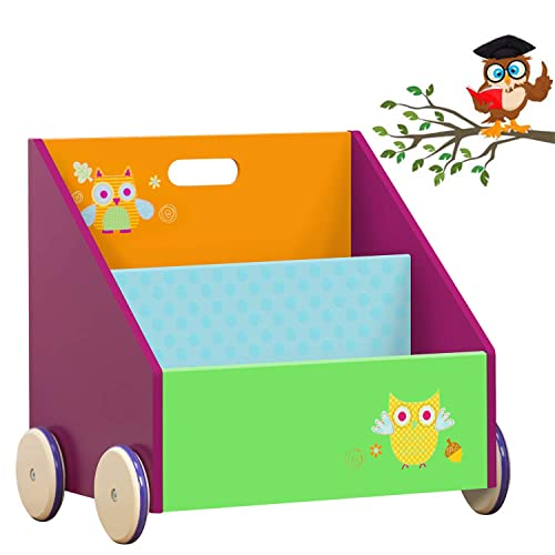 Kiddi Style Kids Childrens Functional Sling Bookcase White Bedroom Storage