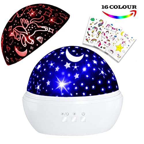 Hongkids Night Light For Kids Unicorn Night Light Star Projector For Kids Unicorn Lamps For Girls Bedroom Unicorn Gifts For Girls Night Light For Boys Buy Products Online With Ubuy Kuwait In Affordable Prices B07k33rb37