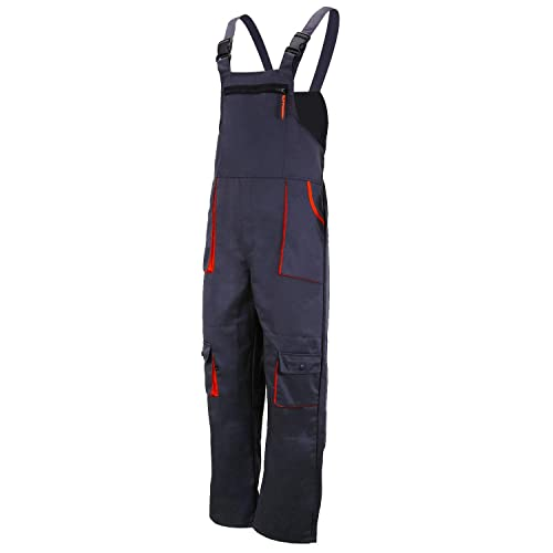 Multipockets ArtMas Classic Bib and Brace Dungaree Overalls Durable Triple Stitched Seams Pro Wear Workwear 2 Colors Pocket for Knee Pad S-3XL Size