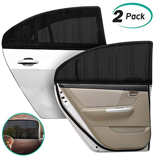 Car Window Sun Shade Car Side Windscreen SunShade for Baby Lacliet Universal Roller Blind Retractable Auto Sunshade Protector Blocks Harmful UV Rays and Heat to Protect Baby Pets and Passengers Kids