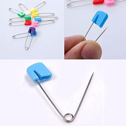 Assorted Color LEFV/™ Diaper Pins 2.1inch Cloth Nappy Safety Pins,Pack of 100